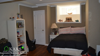 Basement Bedroom After Remodeling With Basement Finishing System