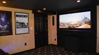 Movie Theater Room In Basement Bridgewater MA