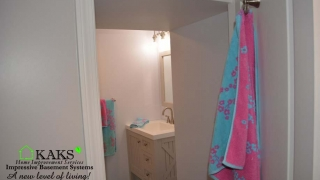 Teens Bathroom installed in Basement Boxford MA