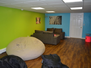 Hangout Space For Teens in Basement
