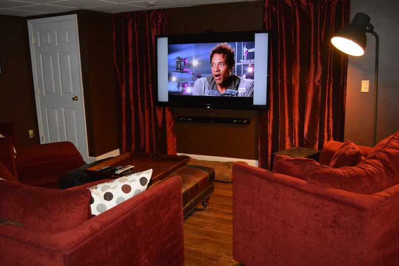 Basement Remodeling Boston hanover finished basement movie room – kaks basement finishing
