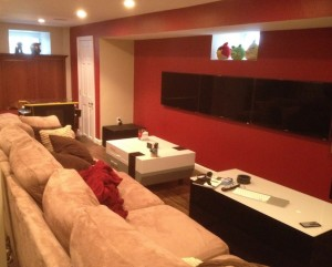 Finished basement game room ideas in Boston