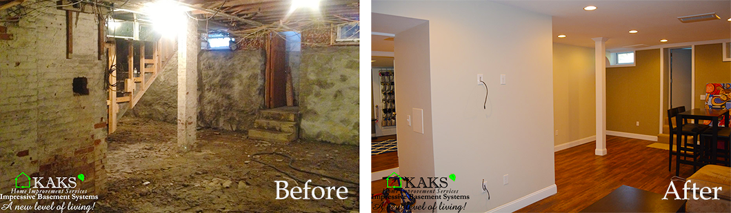 Before After Old Basement Remodel