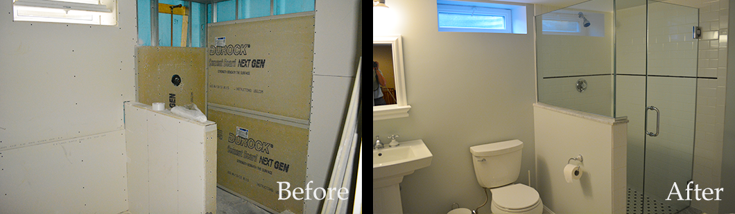 before-after Basement Renovation Bathroom