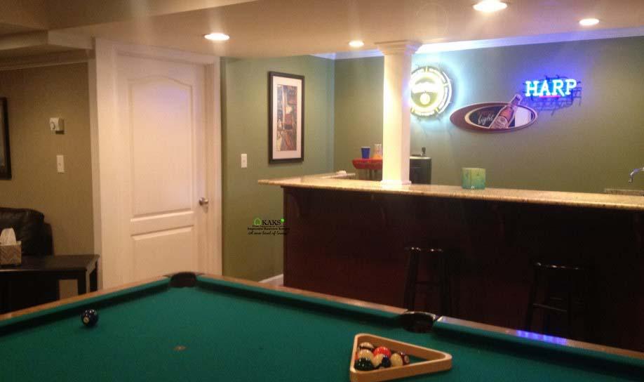 best basement renovation family room kaks basement finishing