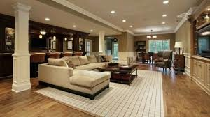 a remodeled basement on the south shore