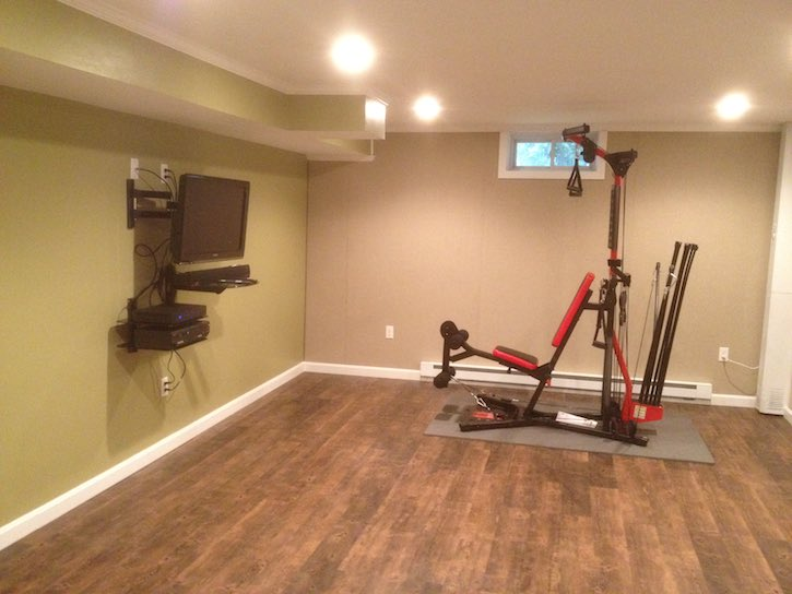 Basement home gym ideas boston ma south shore cape cod