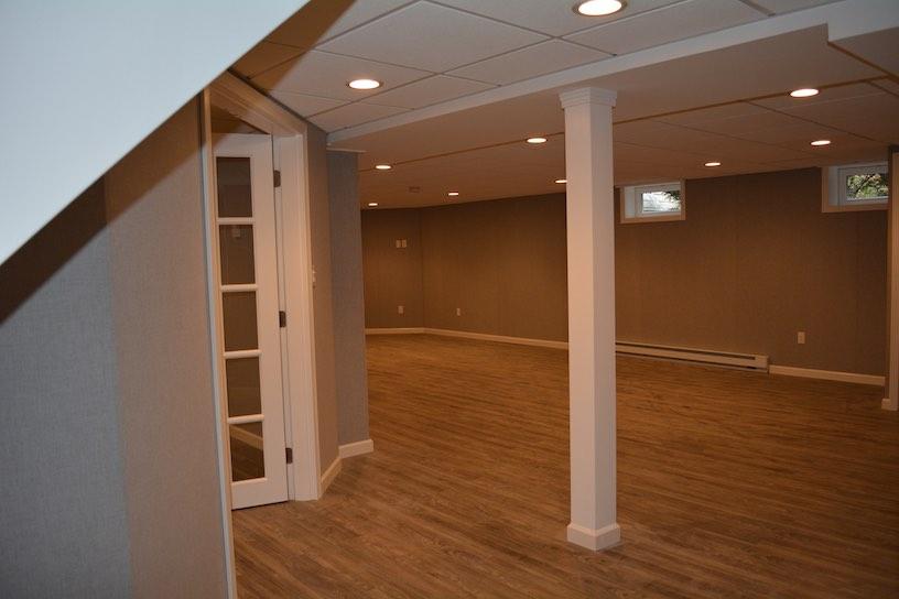 basement living spaces family room ideas boston ma
