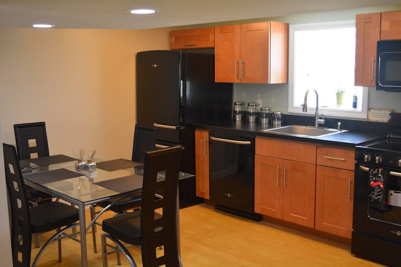 Basement Kitchen & Bath Remodel In Rockland Ma. KAKS